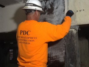 Support Reinforcement with Carbon Fiber by Pride Development & Construction
